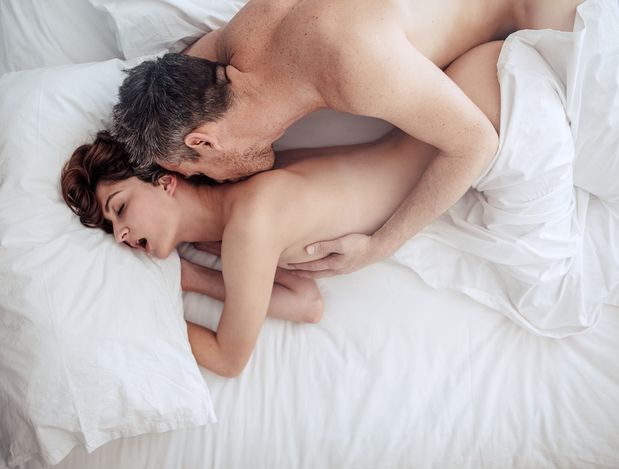 Loving couple have sex on tape